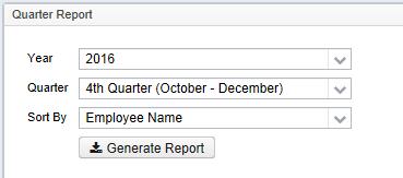quarter report sample