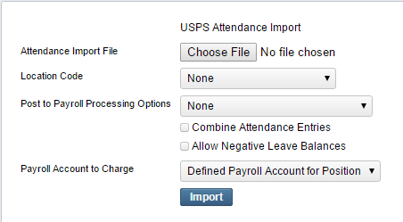 Attendance/Absence Import - USPS-R Documentation - SSDT