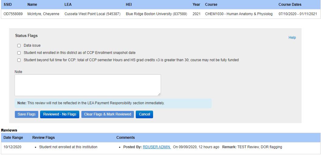 LEA Courses - Ohio District Data Exchange (ODDEX) - SSDT